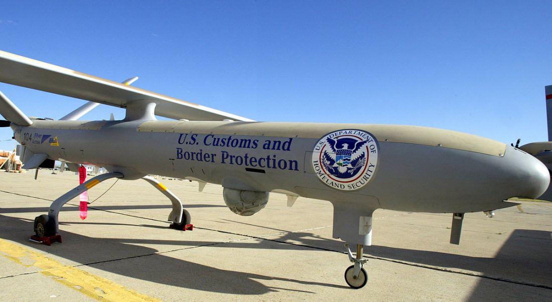 dron en la frontera