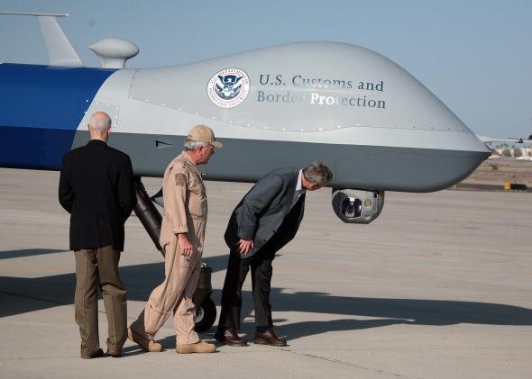 dron patrulla fronteriza