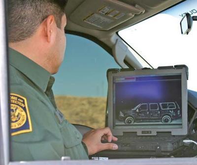 escáner de la patrulla fronteriza